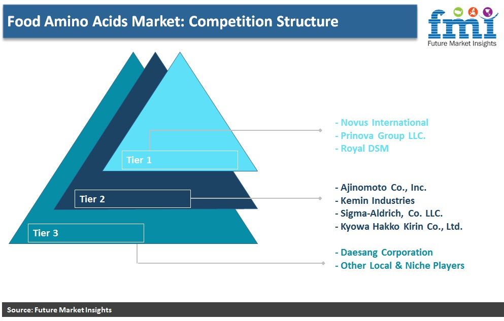 Food Amino Acids Market: Competition Structure