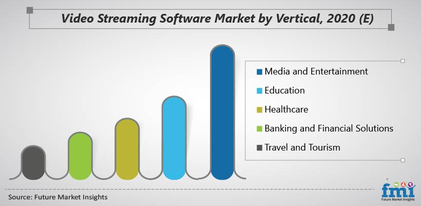 Video Streaming Software Market by Vertical, 2020 (E)