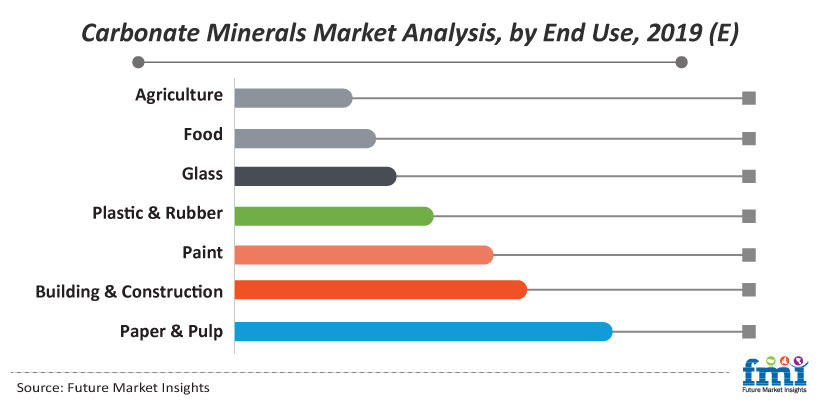 Carbonate Minerals Market Analysis, by End Use, 2019 (E)