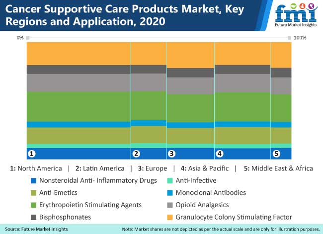 cancer supportive care products market key regions and application