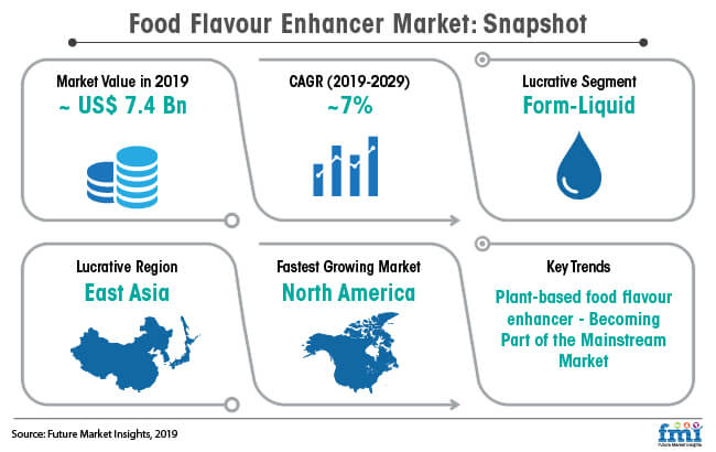 food flavour enhancer market snapshot