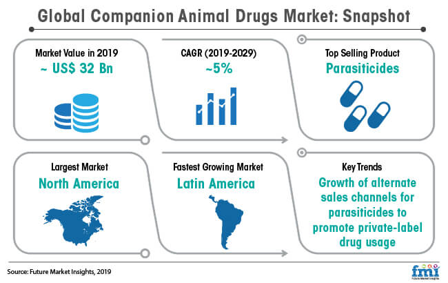 global companion animal drugs market snapshot