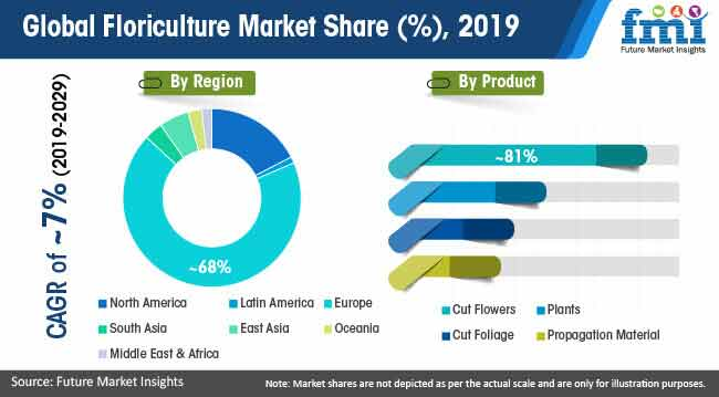 global floriculture market share 2019