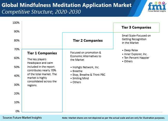global mindfulness meditation aplication market competitive structure