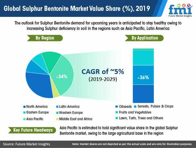 global sulphur bentonite market value share 2019
