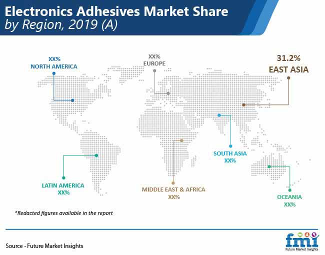 electronics adhesives market share by region pr