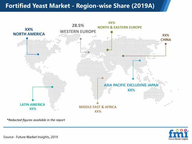 fortified yeast market region wise share