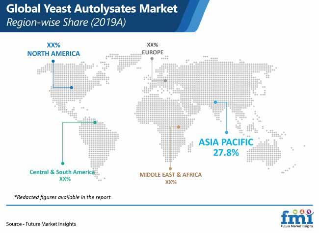 global yeast autolysates market region wise share