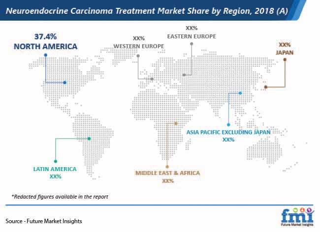 neuroendocrine carcinoma treatment market share by region