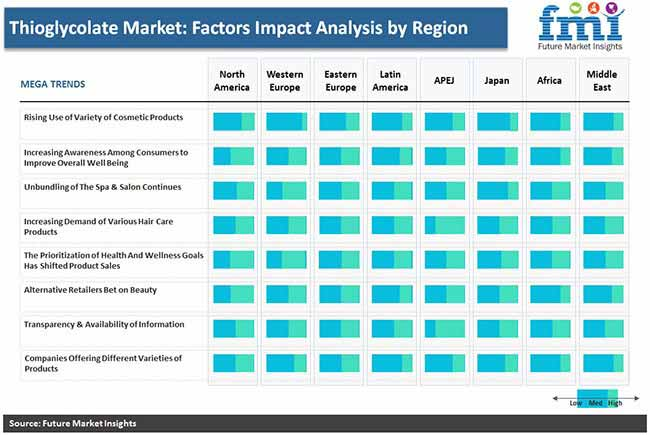 thioglycolate market factors impact analysis by region pr